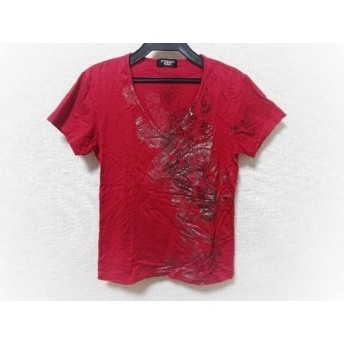 【中古】 トルネードマート TORNADO MART 半袖Tシャツ メンズ レッド シルバー グレー