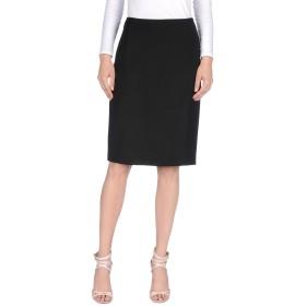 《送料無料》TOMASO STEFANELLI レディース ひざ丈スカート ブラック 50 ウール 56% / レーヨン 44%