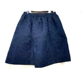 【中古】 ブルーガール BLUGiRL スカート サイズ42(I) M レディース ネイビー 花柄