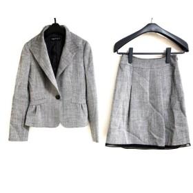 【中古】 インディビ INDIVI スカートスーツ サイズ05 XS レディース グレー ラメ