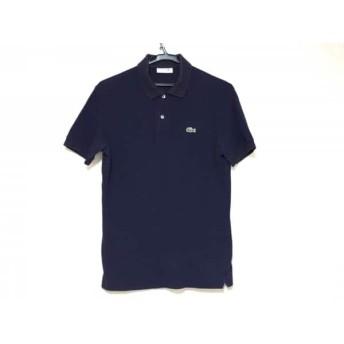 【中古】 ラコステ Lacoste 半袖ポロシャツ サイズ3 L メンズ ネイビー