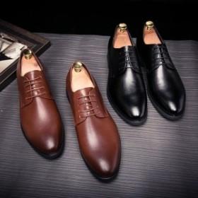 ビジネスシューズメンズ欧米風通勤革靴大人気就活ファッション秋冬物レザー欧米風結婚式