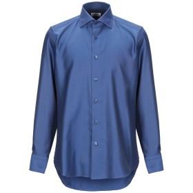 《期間限定セール開催中!》CASTANGIA メンズ シャツ ダークブルー 37 コットン 100%