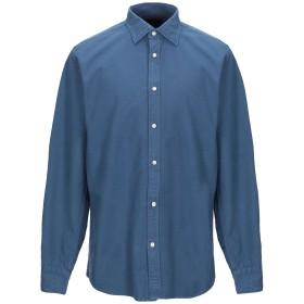 《セール開催中》DEPERLU メンズ シャツ パステルブルー S コットン 100%