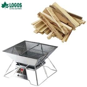 ロゴス LOGOS 焚き火台 焚火ピラミッドグリルEVO-L+薪3kg 【2点セット】 R14AE021