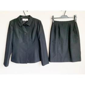 【中古】 バレンシアガライセンス スカートスーツ サイズ38 M レディース 黒 肩パッド/La Mode