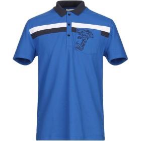 《セール開催中》VERSACE COLLECTION メンズ ポロシャツ ブライトブルー M 100% コットン