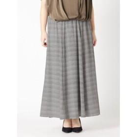 【大きいサイズレディース】【L-5L】ゆったりサイズ!プリントロングフレアースカート スカート ロングスカート