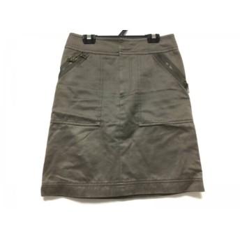 【中古】 ドレステリア DRESSTERIOR スカート サイズ36 S レディース カーキ