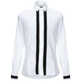 《期間限定セール開催中!》LES HOMMES メンズ シャツ ホワイト 52 コットン 96% / ポリウレタン 4%