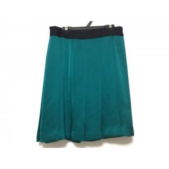 【中古】 ドレステリア DRESSTERIOR スカート サイズ36 S レディース グリーン 黒 プリーツ