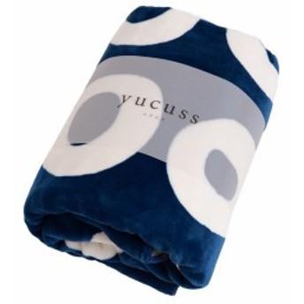 Bagle ) yucuss ずっとふれていたい 54380107 (ユクスス ブランケット シングルネイビー 毛布