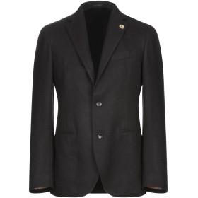 《期間限定セール開催中!》LARDINI メンズ テーラードジャケット ブラック 50 カシミヤ 100%