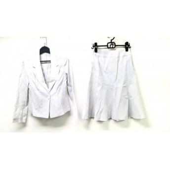 【中古】 ヒロコビス HIROKO BIS スカートスーツ サイズ9 M レディース 美品 ライトグレー