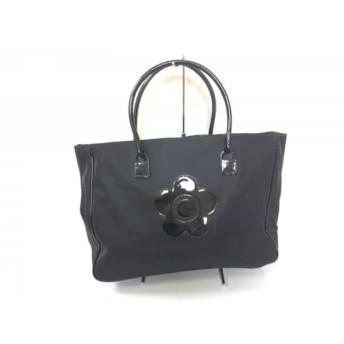 【中古】 マリークワント MARY QUANT ハンドバッグ 美品 黒 LONDON 化学繊維 エナメル(合皮)