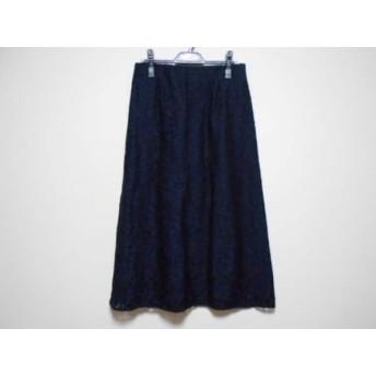 【中古】 ミラオーウェン Mila Owen ロングスカート サイズ1 S レディース 美品 ダークネイビー