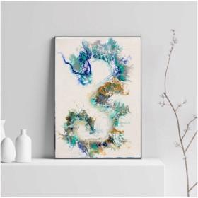 (Blue Dragon) 絵画 アート インテリア雑貨 アートパネル ブルー ドラゴン 龍