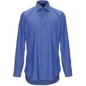 《期間限定セール開催中!》CASTANGIA メンズ シャツ ブルー 38 コットン 100%