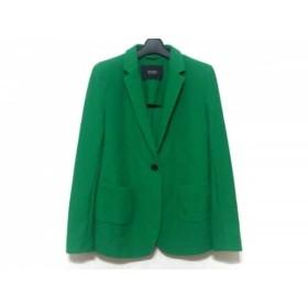 【中古】 セブンティ SEVENTY ジャケット サイズ46 XL レディース グリーン SERGIO TEGON/メッシュ