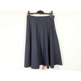 【中古】 マッキントッシュフィロソフィー スカート サイズ38 L レディース ネイビー 白 ストライプ