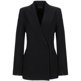 《期間限定 セール開催中》ANN DEMEULEMEESTER レディース テーラードジャケット ブラック 36 バージンウール 58% / コットン 42%