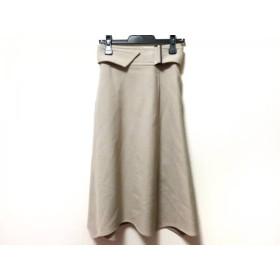 【中古】 ルメール LEMAIRE ロングスカート サイズ34 S レディース ベージュ