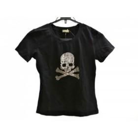 【中古】 ガリアーノ galliano 半袖Tシャツ サイズM レディース 黒 クリア スカル/ラインストーン