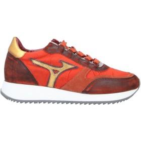 《セール開催中》MIZUNO レディース スニーカー&テニスシューズ(ローカット) 赤茶色 6 革 / 紡績繊維