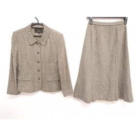【中古】 レリアン スカートスーツ サイズ7 S レディース ベージュ ライトグリーン ダークネイビー