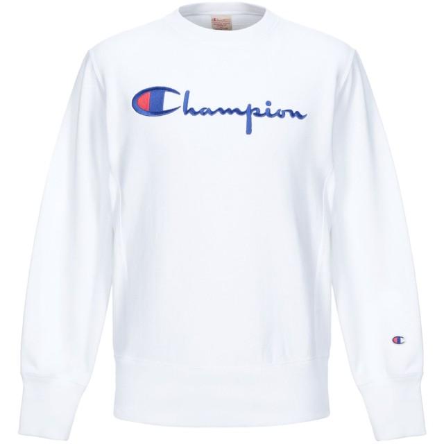 《セール開催中》CHAMPION メンズ スウェットシャツ ホワイト L コットン 86% / ポリエステル 14%