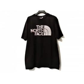 【中古】 ノースフェイス THE NORTH FACE 半袖Tシャツ サイズL メンズ 黒 白 レッド