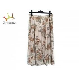 バーバリーズ Burberry's ロングスカート サイズ13 L レディース ベージュ×マルチ 花柄  値下げ 20190725