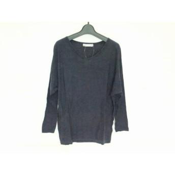 【中古】 ダーマコレクション DAMAcollection 長袖セーター サイズ2 M レディース ダークネイビー