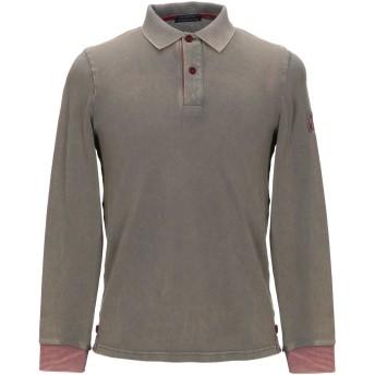 《セール開催中》DIMATTIA メンズ ポロシャツ ミリタリーグリーン S コットン 95% / ポリウレタン 5%