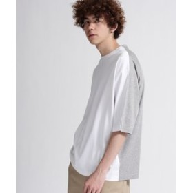 【tk. TAKEO KIKUCHI:トップス】◆スーピマスムース6分袖Tシャツ