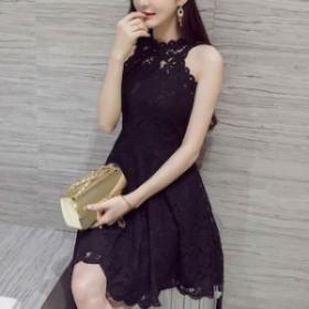 ミニドレス キャバドレス フレアースカート パーティードレス ミニ mini ドレス 【T002-HALN1051】