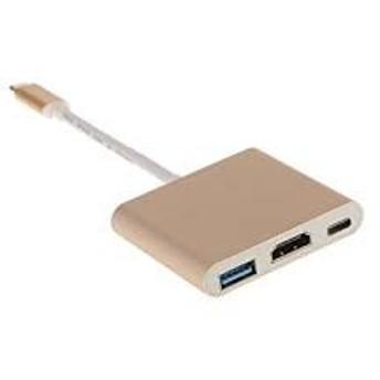 USB Type C to HDMI 変換アダプタ マルチポート Cポート4K解像度 (ゴールド) MYR