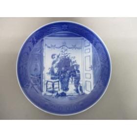 【中古】 ロイヤルコペンハーゲン プレート 新品同様 白 ブルー ネイビー 2000年イヤープレート 陶器