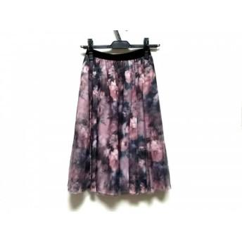 【中古】 ジャスグリッティー JUSGLITTY スカート サイズ1 S レディース ピンク 黒 マルチ 花柄