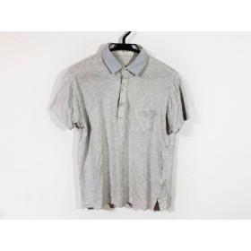 【中古】 ランバンコレクション LANVIN COLLECTION 半袖ポロシャツ サイズM メンズ ライトグレー