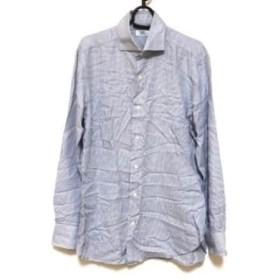【中古】 バルバ BARBA 長袖シャツ サイズ41 メンズ 白 ブルー