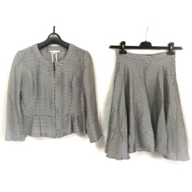 【中古】 ナチュラルビューティー スカートセットアップ サイズ36 S レディース 白 黒 ネイビー