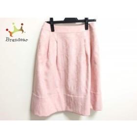 ユキトリイ YUKITORII スカート サイズ38 M レディース ピンク×白 花柄/刺繍   スペシャル特価 20190806