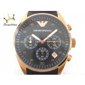 アルマーニ EMPORIOARMANI 腕時計 美品 AR-5906 レディース クロノグラフ 黒 新着 20190503