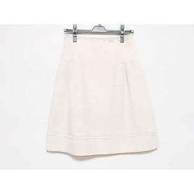 【中古】 フォクシー FOXEY スカート サイズ38 M レディース ベージュ プリーツ
