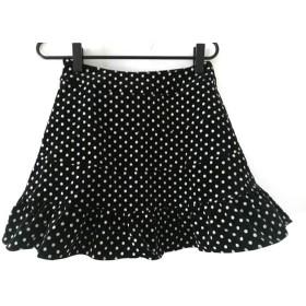 【中古】 エミリーテンプルキュート EmilyTemplecute スカート サイズ レディース 黒 白 ドット柄