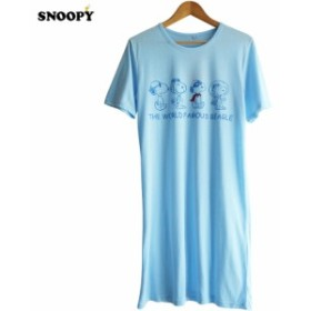 送料無料 スヌーピー ワンピース Tシャツワンピ パイロット 宇宙飛行士 snoopy peanuts さわやか キャンプ ゆったり 涼しい リラックス
