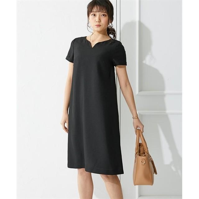 スラブ調麻調合繊ゴールドバー付ワンピース(セットアップ対応) (ワンピース),dress