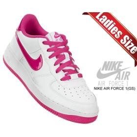 【ナイキ エアフォース 1 GS】NIKE AIR FORCE 1 (GS) white/hot pink 314219-124 ローカット スニーカー ホワイト ピンク