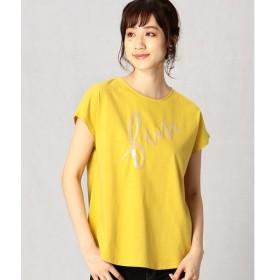 Comme ca Mature / コムサマチュア スパンコール 刺繍 Tシャツ